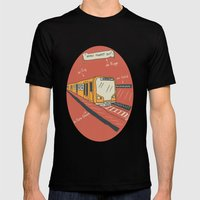 U-BAHN  Mens Fitted Tee Black SMALL