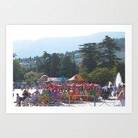 Carnival In Yalta Art Print