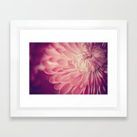 layers of pink Framed Art Print
