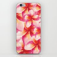 Plumeria Floral Watercol… iPhone & iPod Skin