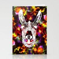 Wonky Donkey Flower  Stationery Cards