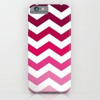 Pink Ombre Chevron iPhone 6 Slim Case