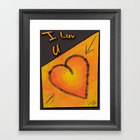 Luv U Framed Art Print