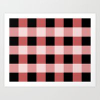 Pink squares Art Print