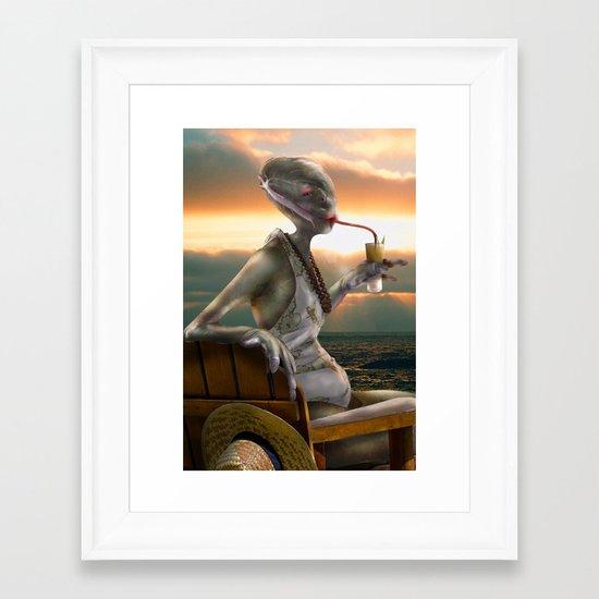 Alien Abroad Framed Art Print