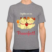 Puuurfect Mens Fitted Tee Tri-Grey SMALL