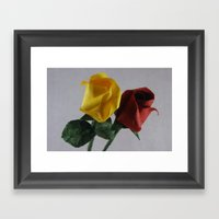 Origami Red And Yellow R… Framed Art Print