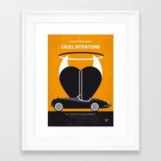 No635 My Cruel Intentions minimal movie poster Framed Art Print
