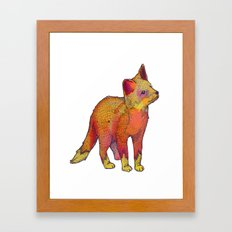 Watercolor Fox Framed Art Print