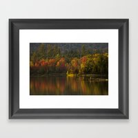 Fall Waters Framed Art Print