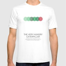 The Very Hungry Caterpillar SMALL Mens Fitted Tee White