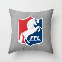 Fantasy Football League Throw Pillow