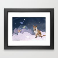 Fox Heaven Framed Art Print