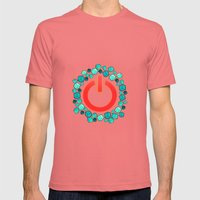 Reset! Mens Fitted Tee Pomegranate SMALL