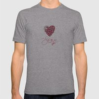 Love You . . . Mens Fitted Tee Athletic Grey SMALL