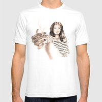 Smoke Mens Fitted Tee White SMALL