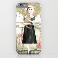 Girl And Cat With Pink B… iPhone 6 Slim Case