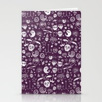 Day of the dead - Purple Stationery Cards