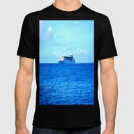 Blue Sea Mens Fitted Tee Black SMALL