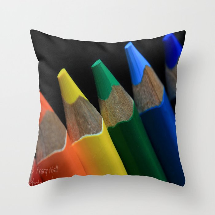 Throw Pillows Bright Colors : Bright Colors Throw Pillow by Tracy66 Society6