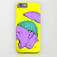 iPhone & iPod Case featuring Brain Stain by Fiction Design