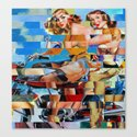 Glitch Pin-Up: Zelda & Zoe Canvas Print