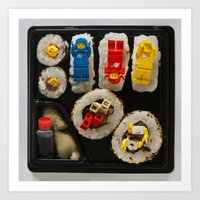 Lego Sushi Art Print