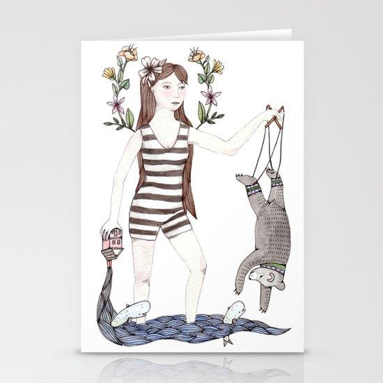 Dangle Bear Stationery Card