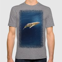 A Whale Dreams Of The Fo… Mens Fitted Tee Tri-Grey SMALL