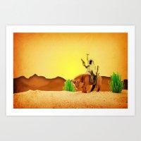 Western Boba Art Print
