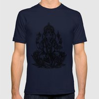 Ganesh Mens Fitted Tee Navy SMALL
