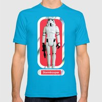 Stormtrooper : Vintage Kenner action figure Smaller Size Mens Fitted Tee Teal SMALL