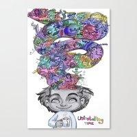 uninstalling my mind  Canvas Print