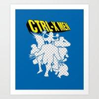 Ctrl-X Men Art Print