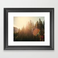 Super Flare Framed Art Print