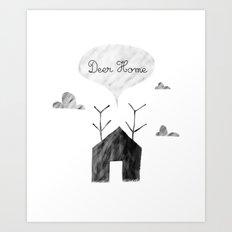Deer Home Art Print