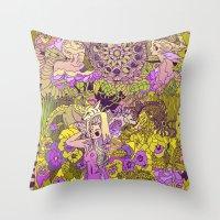 Garden Pansy Throw Pillow