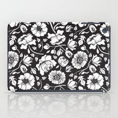 Black Russian Floral iPad Case