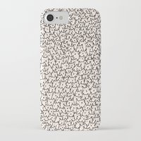 lady iPhone & iPod Cases featuring A Lot of Cats by Kitten Rain