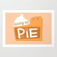 Easy as Pumpkin Pie Art Print