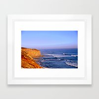 Sunset over the Great Southern Ocean Framed Art Print