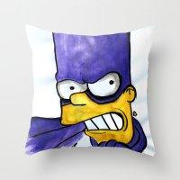 Bartman Throw Pillow