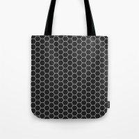 Black Hex Tote Bag