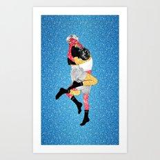 Glitter Fight Art Print