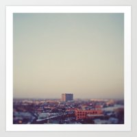 Morning Over Detroit Art Print