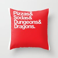 Dungeons & Dragons & Swag Throw Pillow