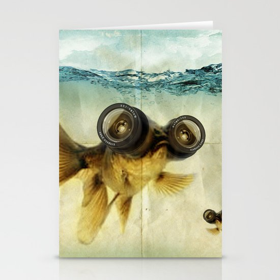 Fish eye lens 02 Stationery Card