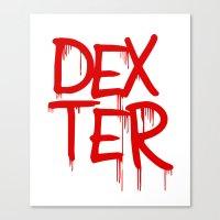 word: Dexter Canvas Print