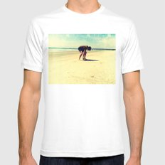 The Artist At Work Mens Fitted Tee White SMALL
