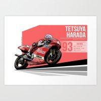 Tetsuya Harada - 1993 Suzuka Art Print